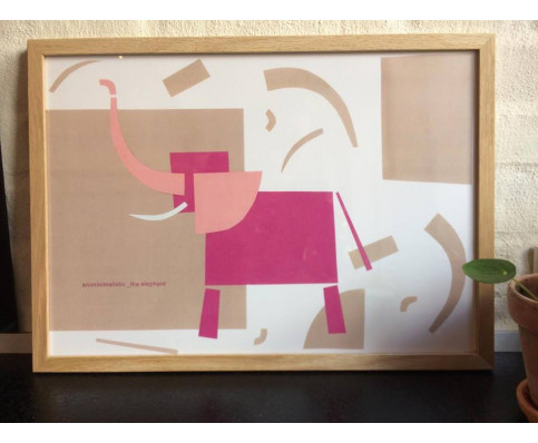 The elefant, plakat fra Hamide